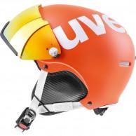 Uvex hlmt 500 skihjelm med visir, orange