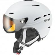 Uvex hlmt 200 skihjelm med visir, hvid