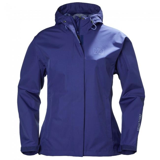 Helly Hansen W Seven J er en vind- og vandtæt regnjakke til kvinder med en rigtig god åndbarhed, hvilket gør, at du holdes tør og varm på kroppen. Jakken har en hellang lynlås med beskyttelsesflap, en justerbar og sammenfoldelig hætte, justerbare manchetter og to lommer med lynlås lukning. Jakken kan desuden justeres forneden med snørrer.Materiale: Ydermateriale: 100% polyesterFoer: 100% polyamidJakken er fremstillet i microlignende materiale som giver en rigtig god bevægelsesfrihed samtidig med at den hurtigt tørrer. Alle syninger og sømme er tapede, hvilket tillige sikre at du forbliver tør. Funktioner :Vandtæthed 10.000 mm (vandsøjletryk)Åndbarhed 10.000 g/m2 24 timerHelly Tech® membranYKK lynlåse