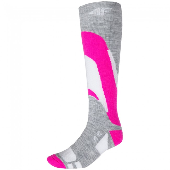 4F Ski Socks, billige skistrømper, dame, pink