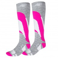4F Ski Socks, 2 par billige skistrømper, dame, pink
