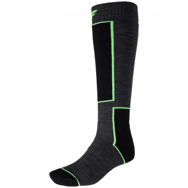 4F Ski Socks, billige skistrømper, mørkegrå