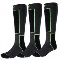 4F Ski Socks, 3 par billige skistrømper, mørkegrå
