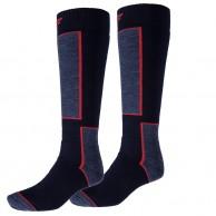 4F Ski Socks, 2 par billige skistrømper, dark navy