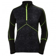 Helly Hansen Lifa Merino 1/2 Zip undertrøje, dame, sort