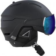 Salomon Driver+, skihjelm med visir, sort/sølv