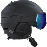 Salomon Driver, skihjelm med visir, sort