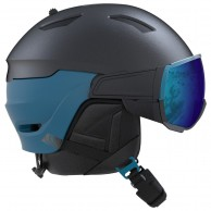 Salomon Driver, skihjelm med visir, mørkeblå