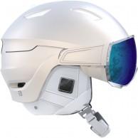 Salomon Mirage+ skihjelm med visir, hvid