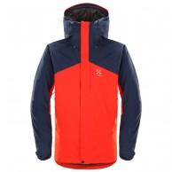 Haglöfs Niva Insulated Jacket, herre skijakke, rød/blå