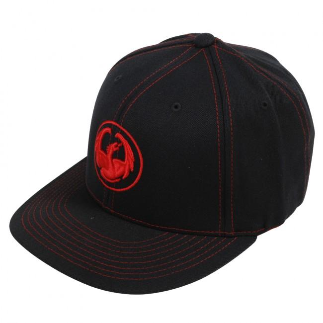 Dragon Cap. Sort med rødt logo.