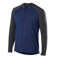 Falke Men 1/2 Zip Long Sleeved Shirt, mørkeblå