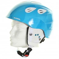 Alpina Grap 2.0 JR, skihjelm, blå/hvid