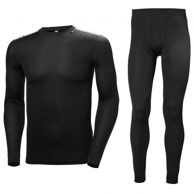 Helly Hansen Comfort Dry skiundertøj, sæt, herre, sort thumbnail