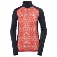 Helly Hansen W Wool Graphic 1/2 zip, melt