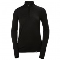 Helly Hansen Merino Mid 1/2 Zip, dame, sort