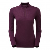 Montane Women's Primino 140 Zip Neck, Saskatoon Berry
