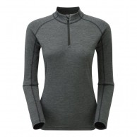 Montane Women's Primino 220 Zip Neck, Black