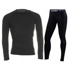 Cairn Warm 180, skiundertøjssæt, mænd, sort
