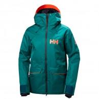 Helly Hansen W Powderqueen Skijakke, dame, grøn