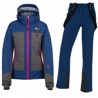Kilpi Sawa/Rhea-W skisæt, dame, grå/mørkeblå