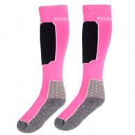 Seger Racer, skistrømper, 2-par, shock pink