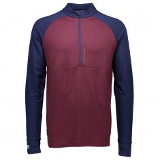 Mons Checklist 1/2, skiundertrøje, Navy/Burgundy