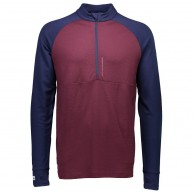 Mons Royale, Checklist 1/2, skiundertrøje, Navy/Burgundy