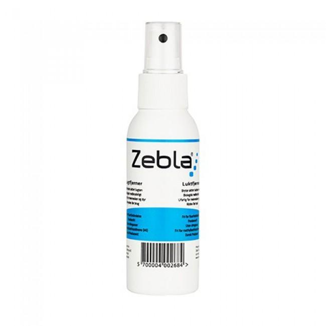 Zebla Lugtfjerner er den effektive, hurtige og miljørigtige vej til lugtfri skistøvler, sko, tasker, handsker osv.Unik lugtfjerner til sko, støvler, tasker, hjelme mm.Ved hjælp af enzymer og rensende mikro-organismer får Zebla has på den organiske syre, der giver sur lugt i fodtøjet. Med Zebla Lugtfjerneren bliver lugten aktivt og effektivt fjernet og ikke blot camoufleret.Zebla Lugtfjerner er meget let at bruge. Sprøjt fire-fem gange i hver sko eller støvle. Hvis sålen kan tages op, så giv også den 4-5 sprøjt.Sæt skoene til tørring. Efter tørring er fodtøjet lugtfrit og klar til brug igen. Gentag behandlingen om nødvendigt.Lugtfjerneren til sko er biologisk nedbrydelig, ufarlig og ikke brandbar, flasken er 99,5 % genbrugelig og så er det lavet i Danmark. Der er ikke brugt drivgasser og den skader derfor ikke ozonlaget.Produktet består af vand, mikroorganismer, enzymer, anioniske tensider (de rensende stoffer) og mint parfume.Indhold: 100 ml.Fri for parabener, fluorforbindelser og meth