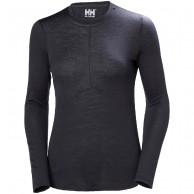 Helly Hansen Merino Light LS, dame, ebony