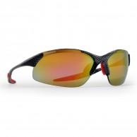 Demon Tour solbriller m. 3 sæt linser/glas, carbon/rød
