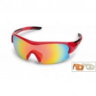 Demon Fuel sportssolbriller, rød, 3 linser