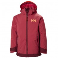 Helly Hansen Hillside skijakke, junior, cardinal