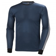 Helly Hansen Lifa Stripe Crew, herre, dark teal