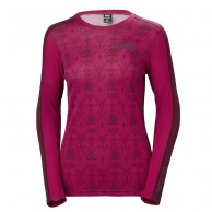 Helly Hansen W Lifa Active Graphic Crew, dame, persian red