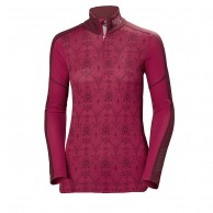 Helly Hansen W Lifa Active Graphic 1/2 Zip, dame, persian red