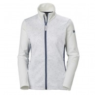 Helly Hansen W Graphic fleece jacket, dame, white