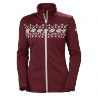 Helly Hansen W Graphic fleece jacket, dame, cabernet