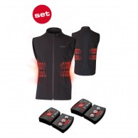 Lenz Heat Vest 1.0 + Lithium Pack rcB 1800, herre, black