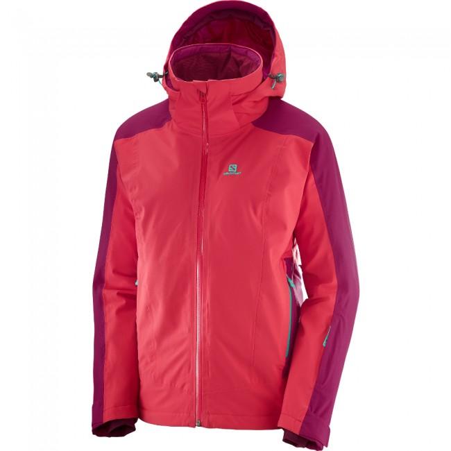 11ec6ca1 Salomon Brilliant JKT W, skijakke, dame, hibiscus/cerise