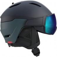 Salomon Driver Dr., skihjelm med visir, blue/solar