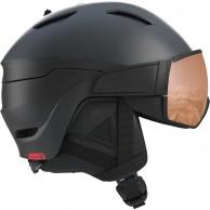 Salomon Driver S, skihjelm med visir, sort/rød