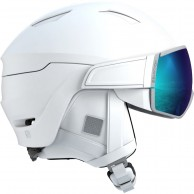 Salomon Mirage, skihjelm med visir, white/solar