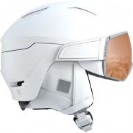 Salomon Mirage S, skihjelm med visir, hvid
