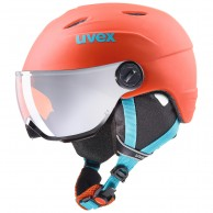 Uvex junior pro, skihjelm med visir, orange