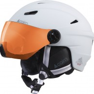 Cairn Electron, skihjelm med visir, mat white