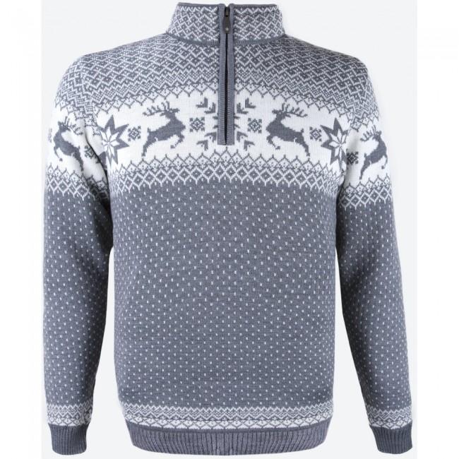 Med denne sweater får en utrolig god trøje, som passer perfekt til brug som mellemlagstrøje på ski, eller som yderste lag på lunere dage. Merinoulden holder dig varm på de kolde dage, men lader dig også ånde på de dage hvor temperaturen er lidt højere. Specifikationer og featuresYKK 1/4 lynlåsBluesign® certificeretMaterialer:50 % Merinould, 50 % Acryl