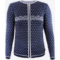 Kama Alva Merino Sweater m. lynlås, dame, navy