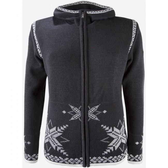 Denne sweater er velegnet til hverdagsbrug på lunere dage, men er også aldeles velegnet som mellemlag på din skiferie. Med 45 % merinould giver den god varme, men du kan også ånde i den hvis det bliver varmere. Specifikationer og featuresFuld længde YKK lynlåsFast hætteBluesign® certificeretMaterialer:45 % Merinould, 55 % Acryl