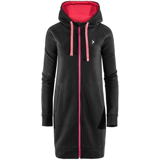 Denne hoodie er måske den mest afslappede af slagsen, som du nogensinde kommer til at eje. Den er dejlig varm og går ned til lige over knæene, og så har den en stor hætte, som kan snøres ind.Hættetrøjen har en hellang lynlås og to sidelommer, så du kan varme hænderne.Specifikationer og featuresHellang lynlåsMateriale: 60 % bomuld, 40 % polyesterVægt: 300 gsmTo lommer foranHætte med snøre